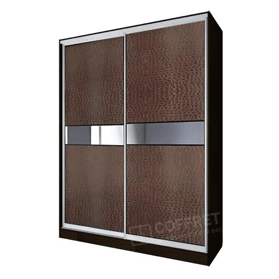 Шкаф-купе с сожей и зеркальными вставками