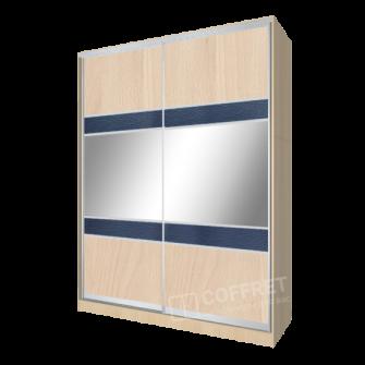 Шкаф-купе с ДСП, зеркалом и вставками кожи