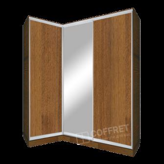 Шкаф-купе угловой с зеркалом и ДСП